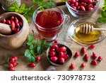A Cup Of Rose Hip Tea On A...