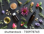 Bottles Of Essential Oil With...