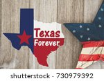 a rustic old texas forever... | Shutterstock . vector #730979392