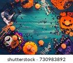 halloween party symbol... | Shutterstock . vector #730983892