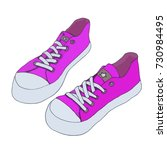 canvas shoes. vector footwear... | Shutterstock .eps vector #730984495