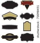 set of eight vector design... | Shutterstock .eps vector #73098451