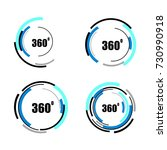 360 degrees icons set isolated... | Shutterstock .eps vector #730990918