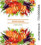 vegetables banner autumn... | Shutterstock .eps vector #731000686