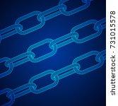 wireframe blockchain links.... | Shutterstock .eps vector #731015578