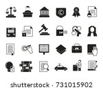 business icons set in... | Shutterstock .eps vector #731015902