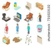 nursing home icons set....   Shutterstock .eps vector #731023132