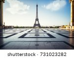 eiffel tower  paris. view over... | Shutterstock . vector #731023282
