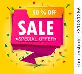 super sale poster  banner. big... | Shutterstock .eps vector #731031286