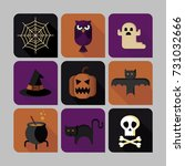 halloween variety of  icons set | Shutterstock .eps vector #731032666