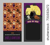 halloween menu card template | Shutterstock .eps vector #731032672