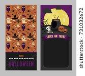 halloween menu card template | Shutterstock .eps vector #731032672