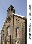 gereformeerde westerkerk church ...   Shutterstock . vector #731033836