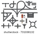 road map design element set.... | Shutterstock .eps vector #731038132