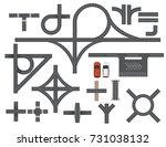 road map design element set.... | Shutterstock .eps vector #731038132