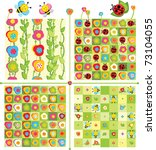 seamless cute patterns and... | Shutterstock .eps vector #73104055