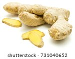 one fresh whole and three... | Shutterstock . vector #731040652