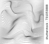 distorted wave monochrome... | Shutterstock .eps vector #731053888