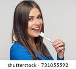 close up portrait of toothy... | Shutterstock . vector #731055592
