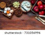 cooking baking concept. making... | Shutterstock . vector #731056996
