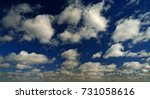 blue sky. | Shutterstock . vector #731058616