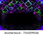 illustration of colorful neon... | Shutterstock . vector #731059036