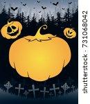 happy helloween poster with... | Shutterstock .eps vector #731068042