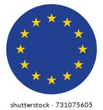 european union flag in the... | Shutterstock .eps vector #731075605