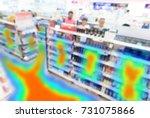 heatmap analytic in smart... | Shutterstock . vector #731075866