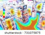 heatmap analytic in smart... | Shutterstock . vector #731075875