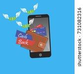 vector digital mobile wallet... | Shutterstock .eps vector #731082316