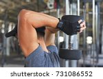 weight training exercise for... | Shutterstock . vector #731086552