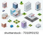 set of town district of the... | Shutterstock .eps vector #731093152