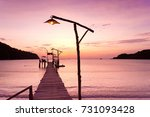 path to the night at the end of ... | Shutterstock . vector #731093428