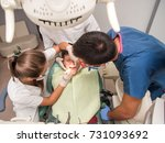 boy with perfect teeth at the... | Shutterstock . vector #731093692