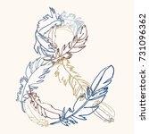 sign ampersand. vector hand... | Shutterstock .eps vector #731096362