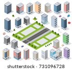 set of urban district of the... | Shutterstock .eps vector #731096728