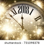 2018 new year shining... | Shutterstock .eps vector #731098378