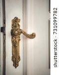 antique interior doorknob on an ...   Shutterstock . vector #731099782