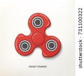 fidget finger spinner poster...   Shutterstock .eps vector #731100322