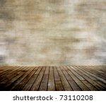 Grunge Wall And Wood Paneled...