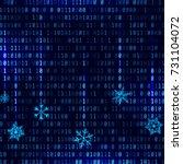 vector matrix style binary... | Shutterstock .eps vector #731104072