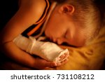 the european boy is sleeping... | Shutterstock . vector #731108212