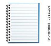 vector blank lined notebook   Shutterstock .eps vector #73111306