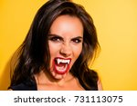 close up portrait of angry... | Shutterstock . vector #731113075