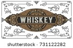 old whiskey design  badge for... | Shutterstock .eps vector #731122282