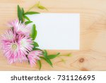 blank white greeting card with... | Shutterstock . vector #731126695
