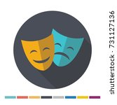 theater mask flat icon with... | Shutterstock .eps vector #731127136