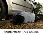 criminal murderer installing...   Shutterstock . vector #731128306