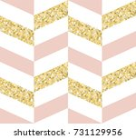 gold glitter  pink and white... | Shutterstock .eps vector #731129956